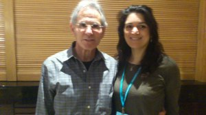 Jon Kabat-Zinn (left) and myself, at the Mindfulness Conference in Chester in 2013.
