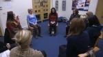 One of the mindfulness group sessions from the MBSR course.